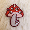 TR00470-MLT-OS - Daisy Mushroom Patch - Patches, Patch, Iron On, Iron On Patches, Patches for Jackets, Embroidered Patches, Embroidery, Embroidered, Cute Patch, Adorable Patch, Daisy Patch, Mushroom Patch, Mushroom, Shrooms, Toadstool, 70s Patch