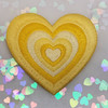 AC00239-ALL-OS - Y2K Aesthetic Heart Patches - Embroidered Iron On Patch for Jackets + - Wildflower + Co. DIY - YELLOW