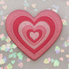 AC00239-ALL-OS - Y2K Aesthetic Heart Patches - Embroidered Iron On Patch for Jackets + - Wildflower + Co. DIY - PINK
