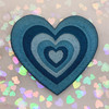 AC00239-ALL-OS - Y2K Aesthetic Heart Patches - Embroidered Iron On Patch for Jackets + - Wildflower + Co. DIY - BLUE