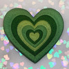 AC00239-ALL-OS - Y2K Aesthetic Heart Patches - Embroidered Iron On Patch for Jackets + - Wildflower + Co. DIY - GREEN