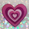 AC00239-ALL-OS - Y2K Aesthetic Heart Patches - Embroidered Iron On Patch for Jackets + - Wildflower + Co. DIY - PURPLE