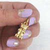 JW00102  Gummy Bear Charm Pendant - Gold - Wildflower.Co - Main