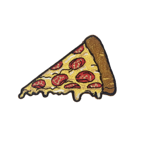 Pizza Patch - Pizza Patches - Pizza Slice Patch -  Iron On Patch - Embroidered Patch - Pepperoni - Munchies