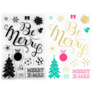 Be Merry Christmas Clear Stamps - Stamping & Papercraft Supplies - Wildflower + Co.