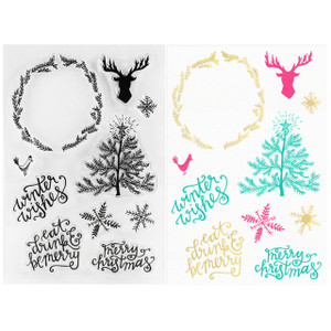 Rustic Christmas Clear Stamps - Winter Wonderland - Stamping & Papercraft Supplies - Wildflower + Co.