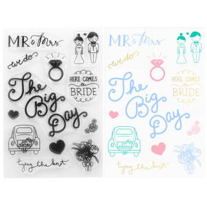 DIY Wedding Clear Stamps -  The Big Day Clear Stamps - Stamping & Papercraft Supplies - Wildflower + Co.