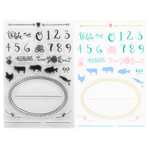 Place Cards Seating Cards Buffet Cards Clear Stamps - DIY Wedding - Stamping & Papercraft Supplies - Wildflower + Co.