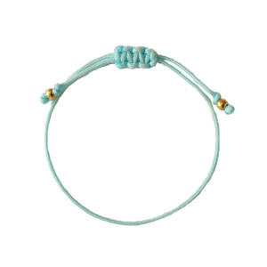 Wish Bracelet Light Blue Gold - Friendship Bracelet - Charm Bracelet -  Wildflower + Co.