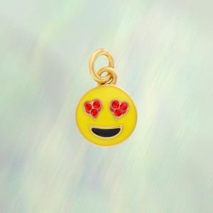 Emoji Charm - Heart Eyes, Gold