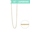 "Superfine 15"" Chain Necklace, Gold - Wildflower + Co."