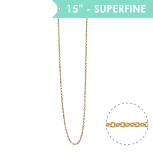 "Superfine 15"" Chain Necklace, Gold - Wildflower + Co."