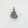 JW00177 Tiny Heart Charm Pendant - Black Diamond - Hematite - Wildflower.Co