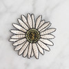 Daisy Flower Iron On Patch - Patches - Embroidered Applique - White - Wildflower + Co. - Multiples