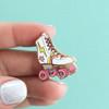 Roller Skate Flair Pin - Enamel - Tiny - Roller Derby - Skate - Girl - Skating - Wildflower + Co.
