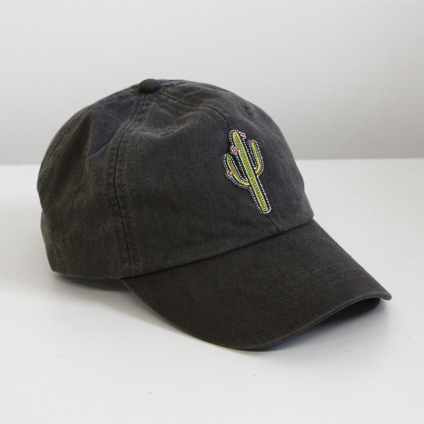 Cactus Embroidered Baseball Hat - Cap - Patch - Wildflower + Co.