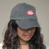 Lip - Tongue Embroidered Baseball Hat - Cap - Patch - Wildflower + Co. - Model1