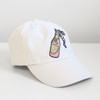 Rose Champagne Wine Embroidered Baseball Hat - Cap - Patch - Pastel Pink - Wildflower + Co.