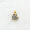 Tiny Heart Charm Pendant - Crystal Pave - Dainty Gold - Mini - Wildflower Co.