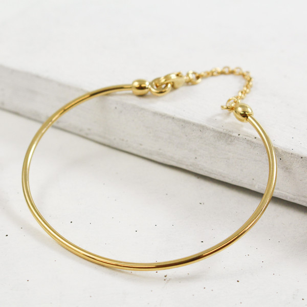 Charm Bangle Gold Wildflower + Co.