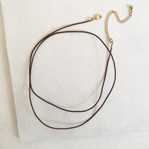 Leather Wrap Necklace / Convertible Wrap Bracelet, Brown