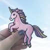 TR00106PNKOS PInk Unicorn Iron On Patch - Wildflower Co