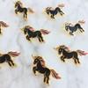 Black Unicorn Enamel Pin - Flair - Lapel - Wildflower Co (2)