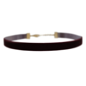 Velvet Choker Necklace, Burgundy