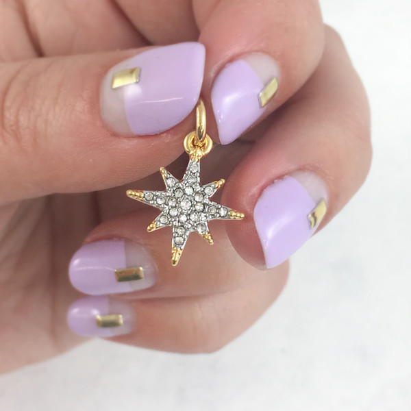 Pave North Star Charm - Pendant - Dainty Gold - Tiny - Delicate - Good Luck - Graduate - Graduation - Journey - Adventure - Wanderlust  - Wildflower + Co. - Hand