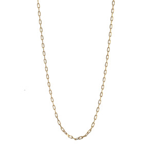 "Fine Box Chain Necklace, 32"" Long, Gold"