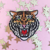 Tiger Patch - Tiger Head Embroidered Iron On Patch - Wildflower Co.
