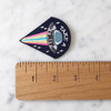 TR00136MLTOS Take a Trip Patch - Alien UFO Trippy - Iron On Embroidered Patches - Wildflower + Co - Ruler