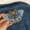 Butterfly Moon Phases Night Sky Butterfly Patch - Iron On Embroidered Applique - Wildflower Co.  (10)