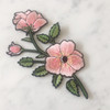 TR00146-MLT-OS-R -Left Pink Flower Patch - Embroidered Iron On Patches - Wildflower Co (2)