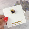 Night Butterfly Charm Pendant - Gold - Packaged - Wildflower Co