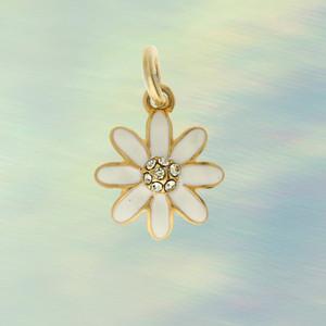JW00411-GLD-OS-R - Daisy Charm Gold Pendant - Charms, Pendant, Jewelry  Wildflower + Co. Jewelry