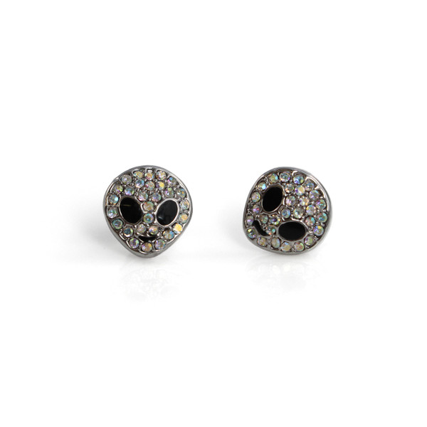 Alien Stud Earrings | Iridescent Silver | Wildflower + Co.