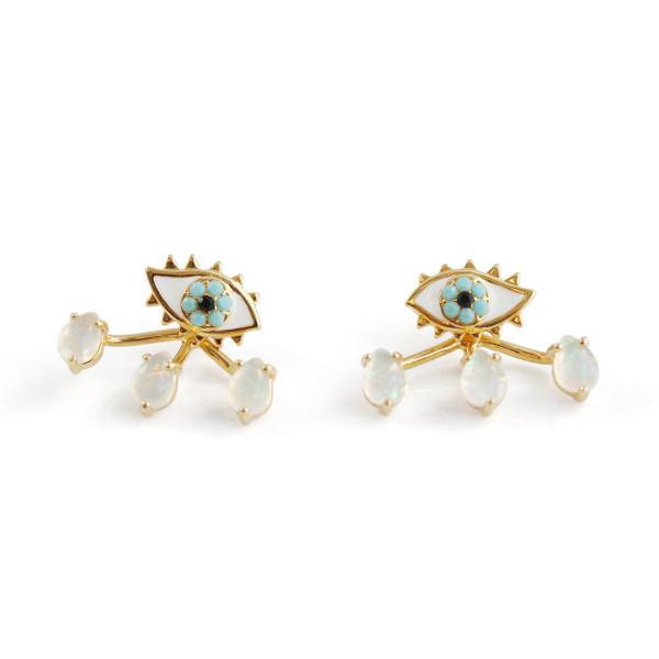 Eye & Teardrop Stud Earrings & Ear Jackets | Wildflower + Co.