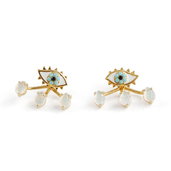 Eye & Teardrop Stud Earrings & Ear Jackets | Wildflower + Co.
