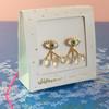 Eye Teardrop Stud Earrings & Ear Jackets - Gold - Packaged - Wildflower Co (1)