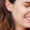 Planet Moon & Shooting Star Ear Crawlers Climbers Stud Earrings  - Tiny Dainty Gold - Packaged - Wildflower Co