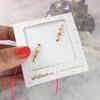 Snake Sepent Earrings Ear Crawler Climber - Gold - Wildflower Co