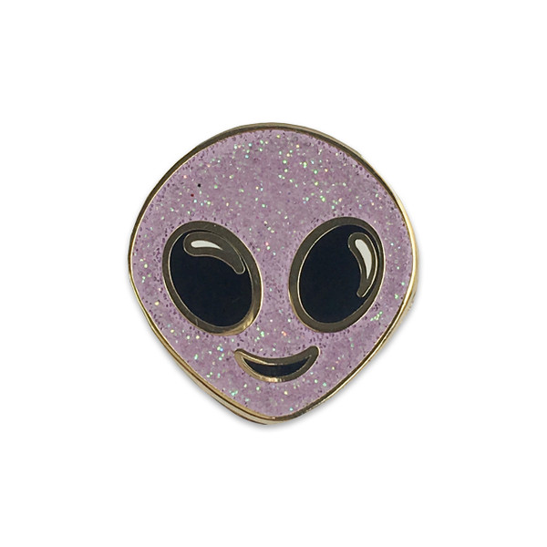Alien Pin | Glitter Enamel Pin | Wildflower + Co.