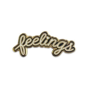 Feelings Pin |Black & White Enamel Pin | Wildflower + Co.