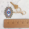Evil Eye Keychain Key Fob Bag Charm Enamel Flair - Wildflower Co (1)