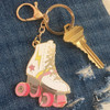 Roller Skate Keychain Key Fob Bag Charm Enamel Flair - Roller Disco - Roller Derby Girls - Wildflower Co (2)
