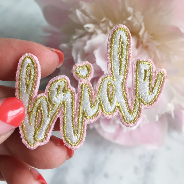 Bride Patch - Iron On Patches Appliques - Wedding - Wildflower Co (3)