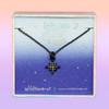 JW00456-HEM-OS-DYO - North Star Necklace - Hematite & Black Diamond Crystal Pave - Wildlfower Co Jewelry