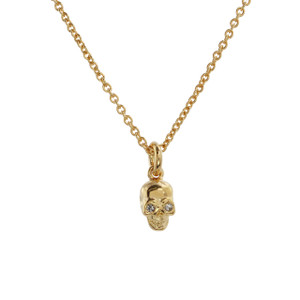 Dainty Gold Skull Necklace - Wildflower Co. Jewelry