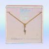 JW00461-GLD-OS-DYO - Tiny Gold Lightning Bolt Necklace - Crystal Pave & Gold - Charm Pendant - Strong Fierce Brave - Celestial Cosmic - Wildflower + Co. Jewelry